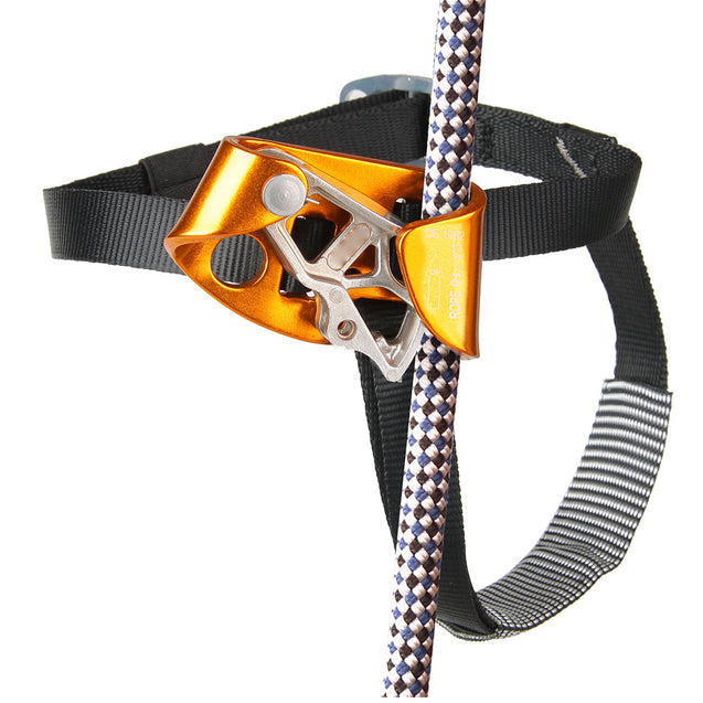 CAMNAL Aluminum Alloy Climbing Right Foot Ascender Riser Rock Climbing Mountaineering Equipment Gear