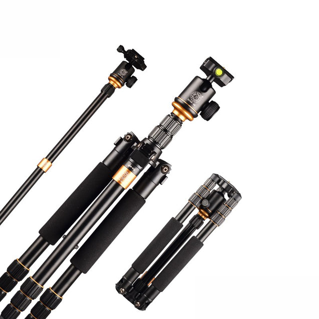 Q999S Travel Tripod 1440mm Aluminum Professional Camera 36cm Tripod with Ball head Monopod Q9S Kit