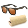 Fashion Round Men Women Handmade Bamboo Wooden Sunglasses Box Frame Hard Shell Glasses Case