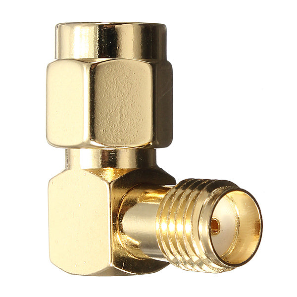 DANIU SMA Male To SMA Female Jack Right Angle Crimp RF Adapter Connector