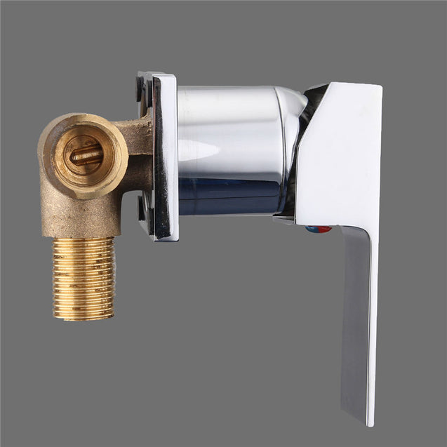 Modern Bathroom Faucet Single Handle Sink Mixer Tap Wall Mounted Chrome Brass Waterfall