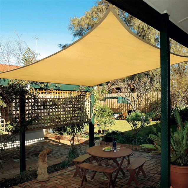 2.5x2.5M Top Sun Shade Sail Shelter Outdoor Garden Patio Car Cover Awning Canopy
