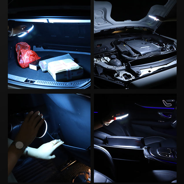Car Roof  Interior LED Reading Light Magnet Ceiling Lamp USB Convertible  Light