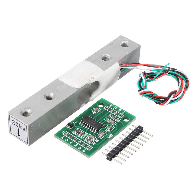 5pcs HX711 Module + 20kg Aluminum Alloy Scale Weighing Sensor Load Cell Kit For Arduino