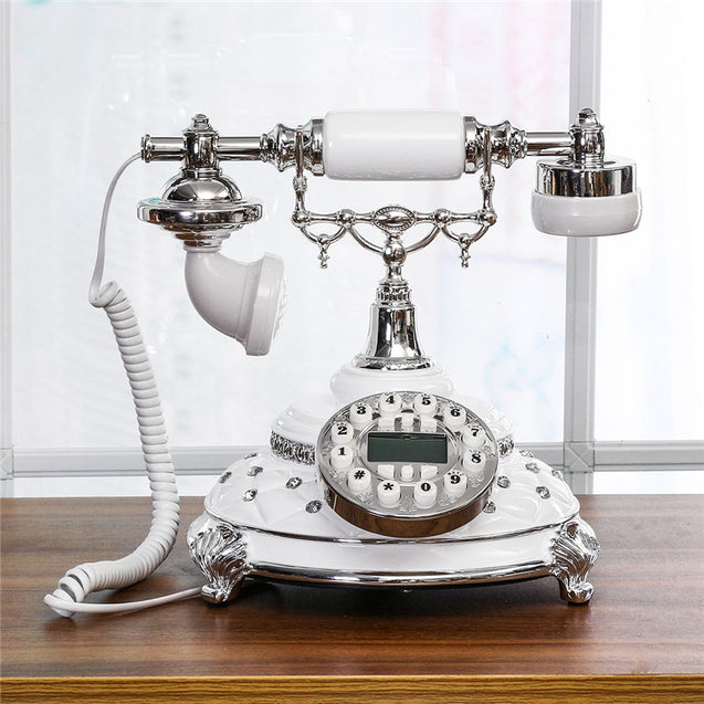 Vintage Antique Retro Phone Old Fashioned Rotary Telephone Handset Office Equipment Home Decor