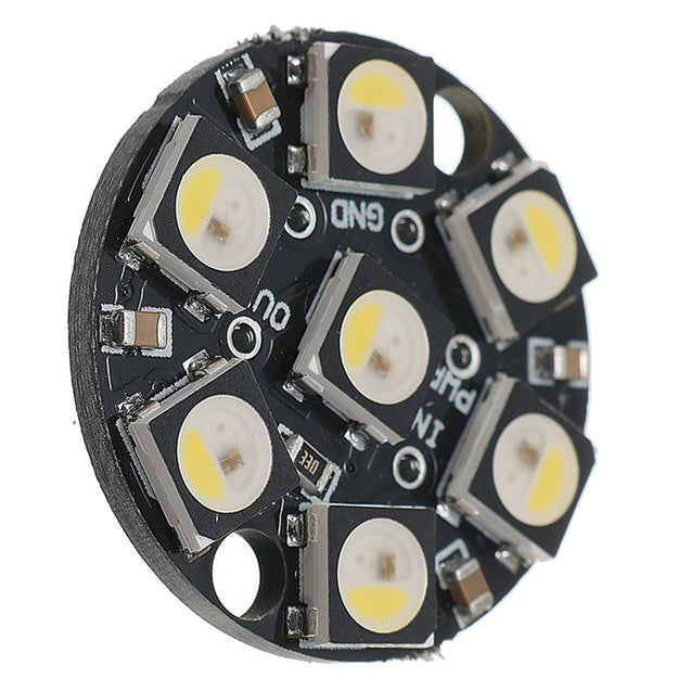 5Pcs Round 7x 5050 RGBW Cool White LED 6000K Display With Integrated Drivers Module