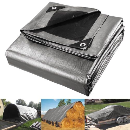 180g 9x15.2m Mulitsize Heavy Duty Poly Tarps PE Tarpaulin Camping Cover UV Water Rot Proof Car Cover