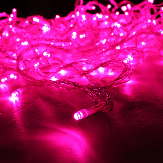 AU Plug AC220V 20M Pink Color LED Fairy String Light 8 Modes Outdoor Indoor Garden Party Wedding