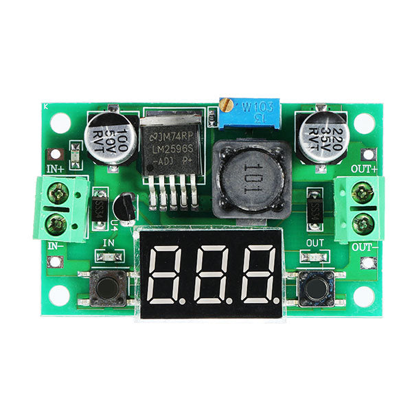 5pcs LM2596 DC-DC 1.3V - 37V 3A Adjustable Buck Step Down Power Module With Digital Display Function