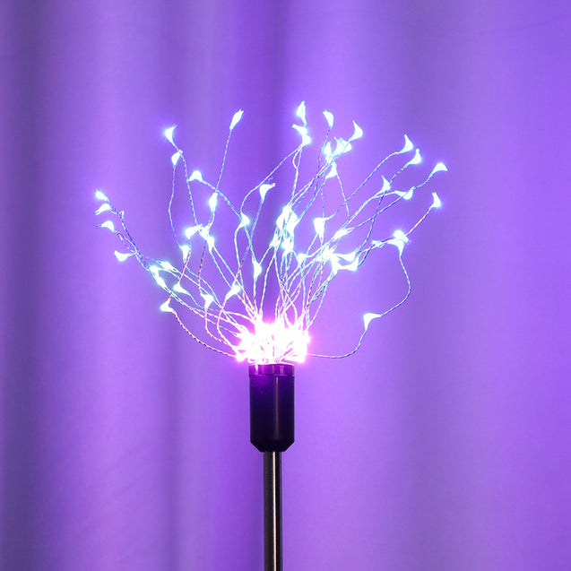 Solar Powered 8 Modes 90LED Colorful Sliver Wire Starburst Firework String Light for Christmas Garden Home