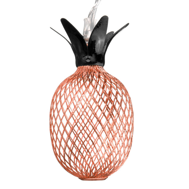 Battery Powered Metal Pineapple Shaped Warm White Indoor LED Fairy String Light for Christmas patio