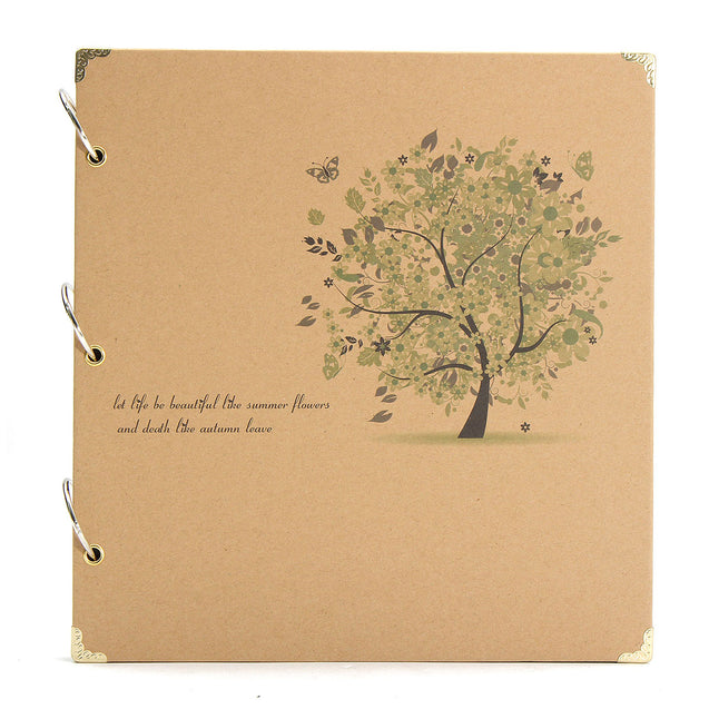 DIY Retro Photo Album Scrapbook Diary Notebook Wedding Birthday Handmade Gift