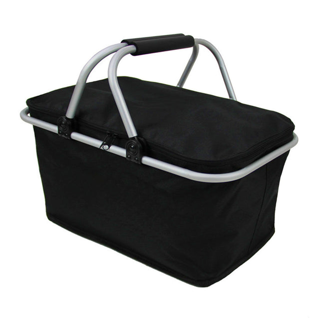 IPRee 30L Folding Camp Picnic Insulated Bag Ice Cooler Hamper Lunch Food Storage Basket