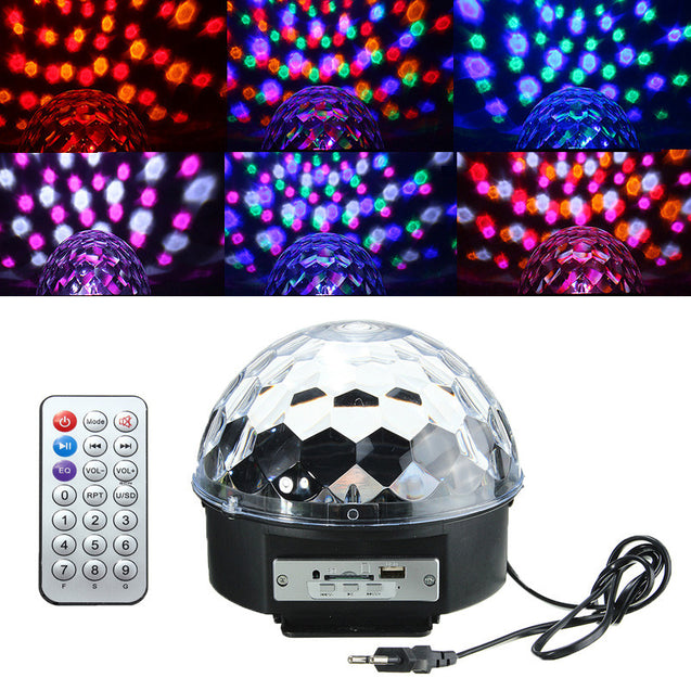 18W LED RGB Crystal Magic Ball Disco  Party Effect Digital Stage Light for Christmas Halloween