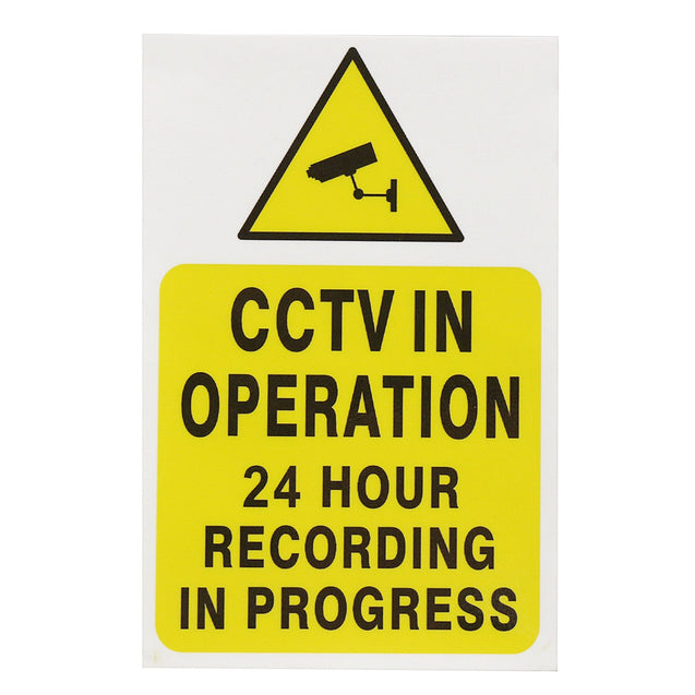 2 Pcs CCTV Security Camera System Warning Sign Sticker Decal Surveillance 200mmx250mm