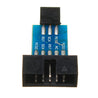 10pcs 10 Pin To 6 Pin Adapter Board Connector ISP Interface Converter AVR AVRISP USBASP STK500 Standard