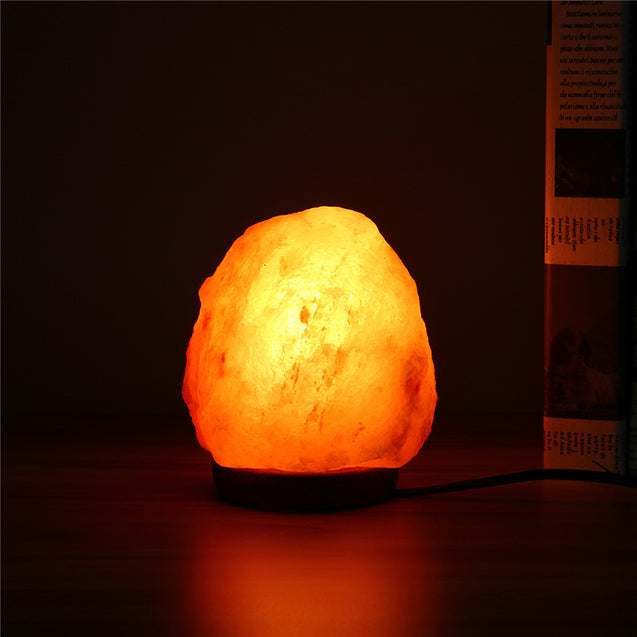 14 X 10CM Himalayan Glow Hand Carved Natural Crystal Salt Night Lamp Table Light With Dimmer Switch