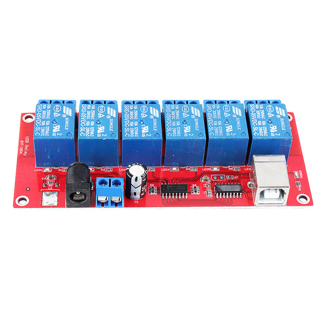 6 Channel 5V HID Driverless USB Relay USB Control Switch Computer Control Switch PC Intelligent Control Relay Module