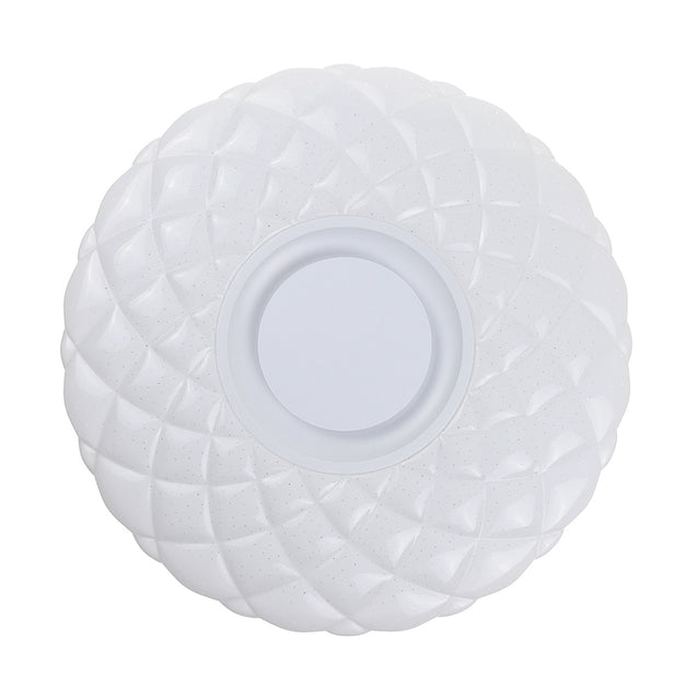50W Dimmable LED Flush Mount Ceiling Light Bluetooth Speaker Lamp with Remote Controller