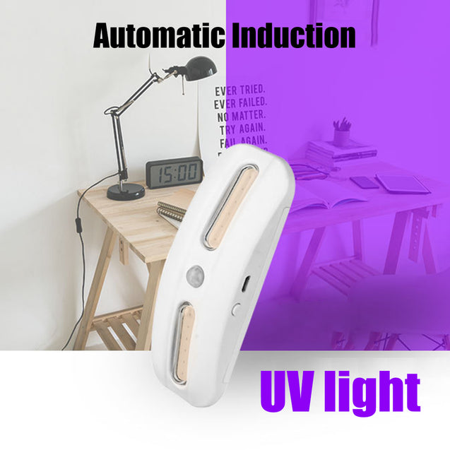 Portable UV Germicidal Lamp Sterilize Automatic Induction Switch 3.7V Light Home UV Sterilizer Lamp
