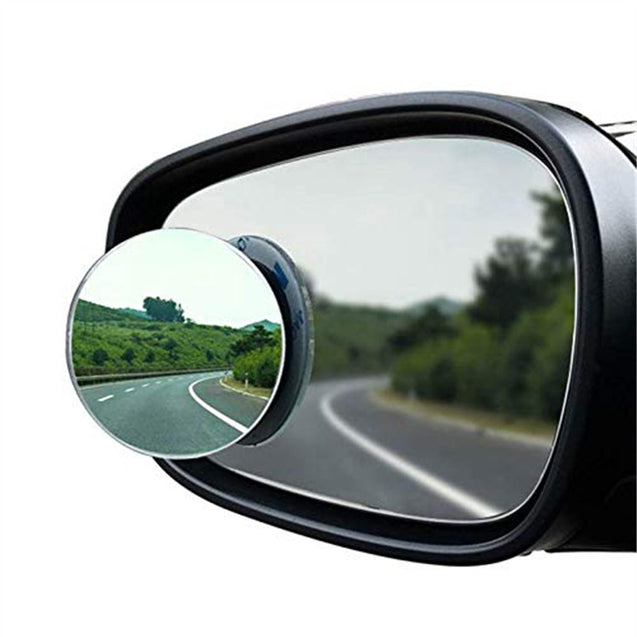 HD Borderless Adjustable 360 Degree Small Round Car Blind Spot Mirror Reversing Wide Angle Lens Auxiliary