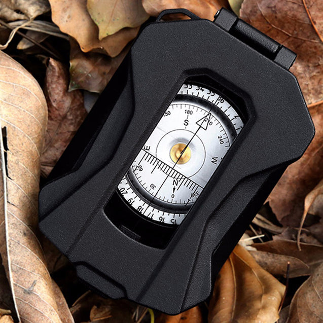 Eyeskey Aluminum Alloy Precise Compass Protractor Waterproof Handheld Outdoor Survival Military