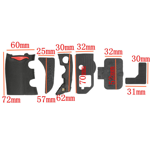 6 Pieces Grip USB Rubber Unit Repair Cover Part and Adhesive Tape For Nikon D700