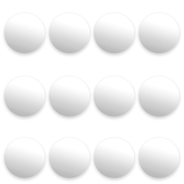 12 Smooth White Foosballs