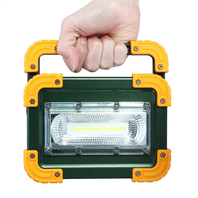 30W LED COB Portable Camping Light USB Rechargeable Outdoor Flood Lantern Spot Work Lamp
