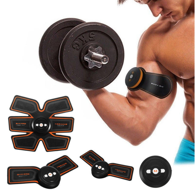 Smart EMS Muscle ABS Fit Training Gear Abdominal Body Home Exercise Shape Fitness Set