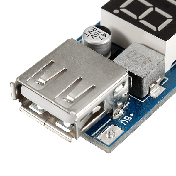 3pcs DC-DC 2 In 1 6.5V-40V To 5V Buck Step Down Power Module Volt Meterr Automatic Calibration