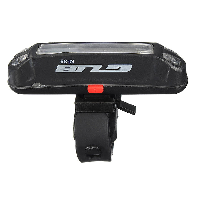 GUB M-39 Waterproof USB Rechargeable Bike Dual Color Red/Blue LED Lights 6 Modes Safety Warning L