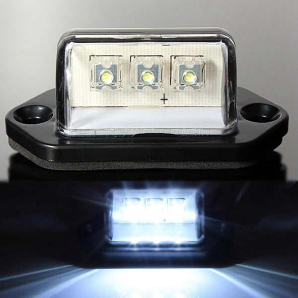 10-30V LED License Light Number Plate Lamp For Car Truck Tail Trailer White