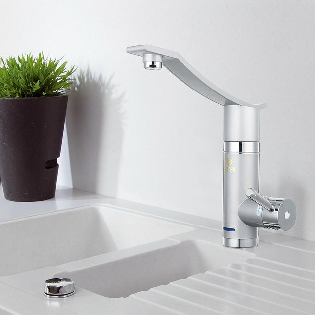 3000W 220V Instant Electric Faucet Lateral Inflow Bathroom Kitchen Hot Water Heating Tap