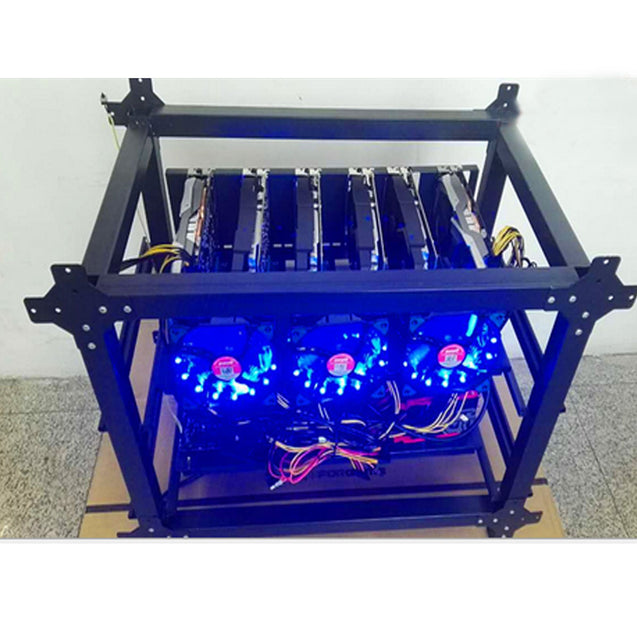 DIY Steel Mining Frame For 6 GPU Mining Crypto-currency Mining Rigs