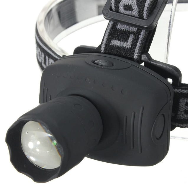 BIKIGHT 160LM 5W 3 Modes Adjustable Waterproof Cycling Headlamp 3 x AAA