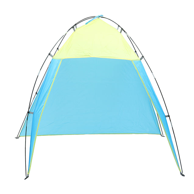 Outdoor 5-8 People Triangle Beach Tent Pop Up Camping Anti-UV Sun Shade Shelter Canopy