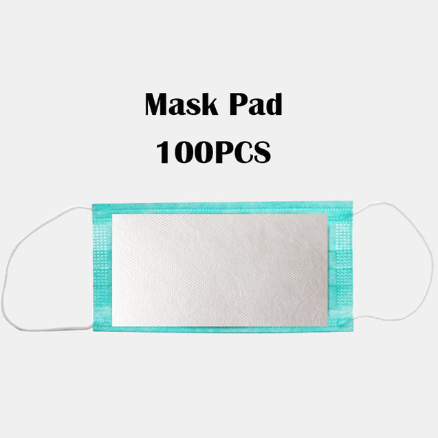 100 Pieces 5-layer PM2.5 Disposable Mask Inner Cotton Pad Gasket Anti-dust Filter For N95 Face Mask / Universal Mask