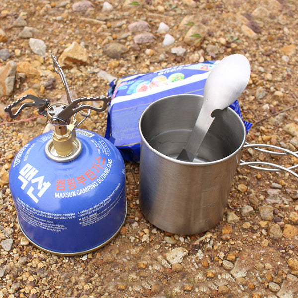 IPRee Mini Camping Stove Outdoor BBQ Picnic Cooking Stove Portable Ultralight Brass Folding Gas