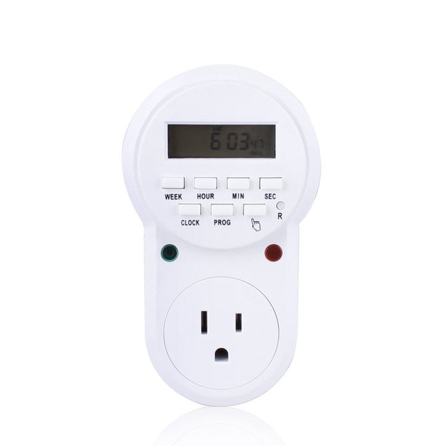 Digital Programmable Electronic Energy Saving Timer Socket US Plug