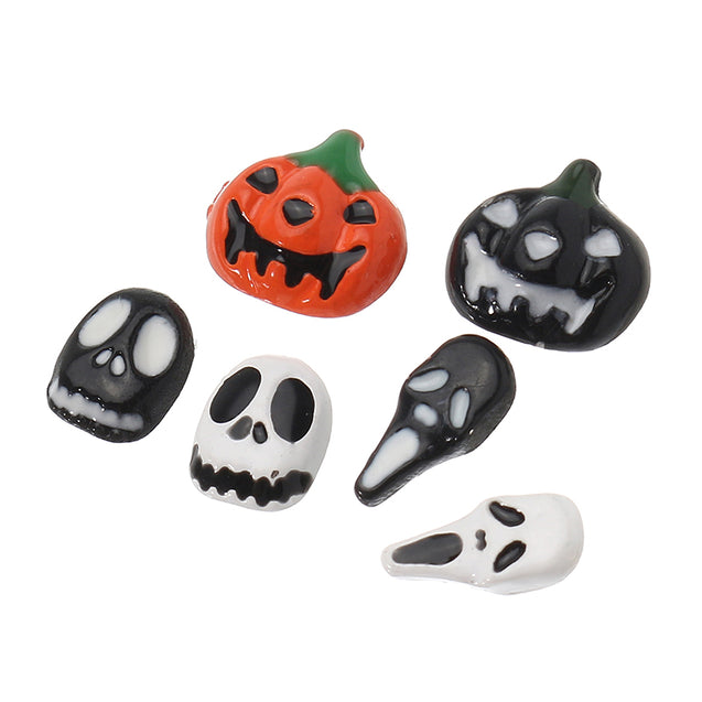Dancingnail 3D Halloween Nail Decoration Studs Pumpkin Ghost Skeleton Rhinestones DIY Toys Design