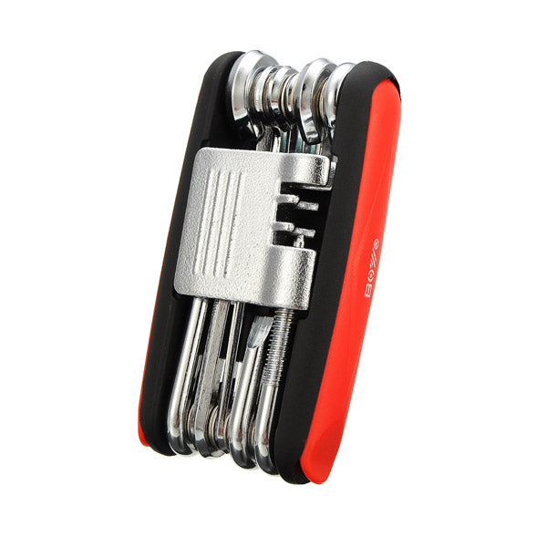 17 In 1 Bicycle Repair Tool Kit Folding Tool Combination Hex Key With Tyre Patch Piece Kit