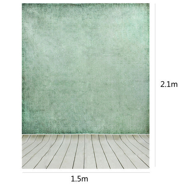 2.1 x 1.5m Wooden Wall Floor Vinyl Cloth Photography Studio Photo Backdrop Background
