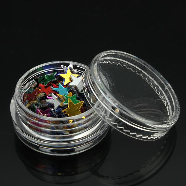 12pcs Colorful Star Pentagon Acrylic Sparkly Shining Sequin Slice Nail Art DIY Decoration
