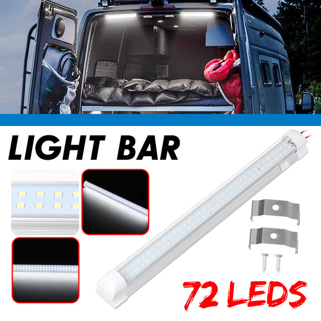12-24V 6W LED Interior Rigid Strip Light Roof Ceiling Lamp RV Camper Trailer Caravan Van Camping