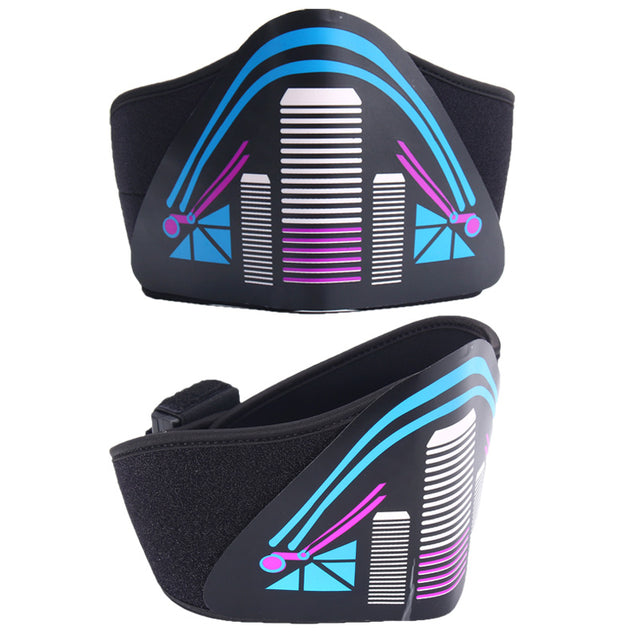 BIKIGHT Outdoor Sports Cycling Face Mask Light Up Flashing Luminous for Halloween Party