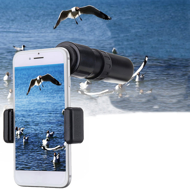 30x25 Zoom Monocular Telescope Waterproof Camping Optic Lens HD Telescope With Phone Clip