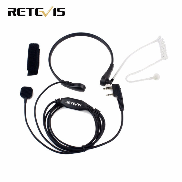 Retevis Throat Mic PTT Earpiece for Kenwood BAOFENG UV-5R Baofeng BF-888S Retevis H777