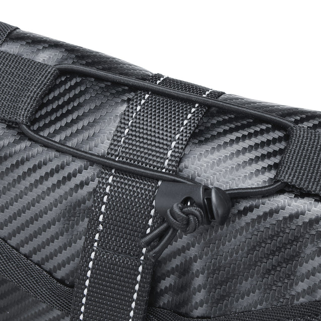 BIKIGHT Universal Waterproof PU Carbon Fiber Waist Leg Bag for Cycling Bike Bicycle Motorcycle