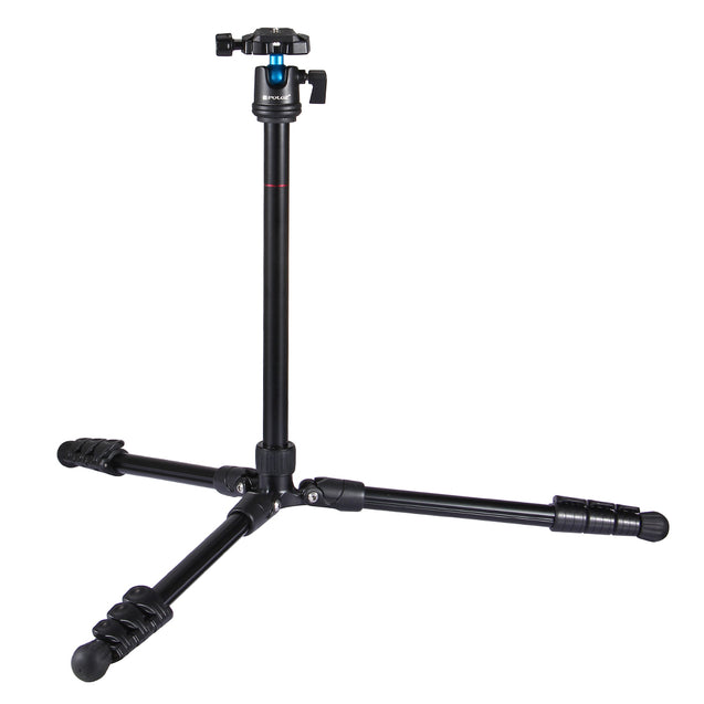 PULUZ PU3009 4-Section Folding Legs Metal Tripod Mount with 360 Degree Ball Head for DSLR